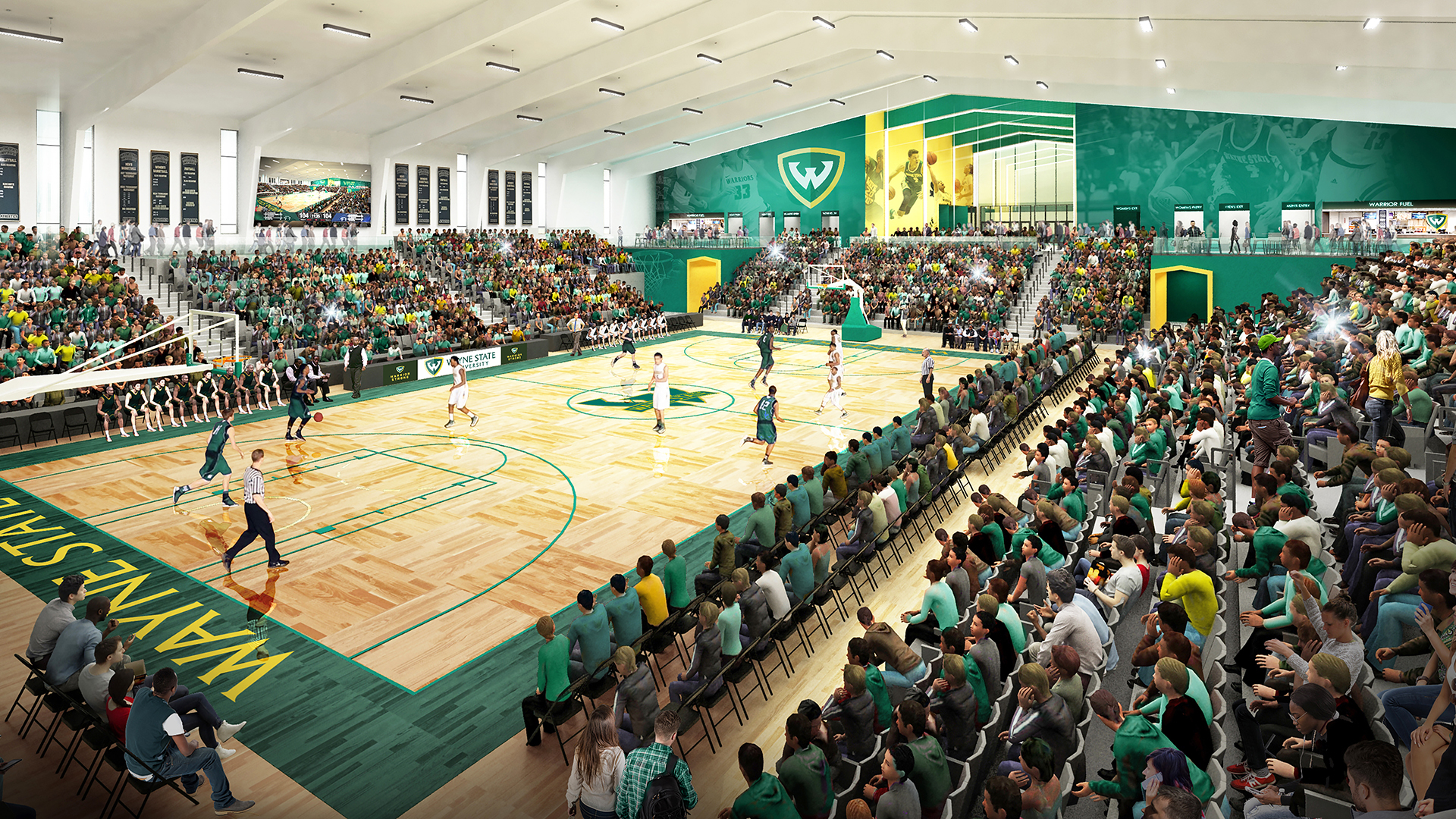 afdd912af Wayne State Announces Plans To Build New Basketball Arena - Wayne ...